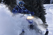 Snowmobiling-Powder